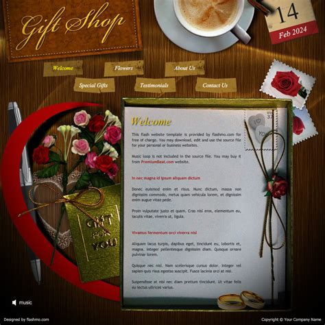 website templates for gift shop flash template 176 gift