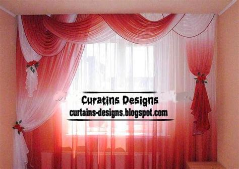 unique red and white curtains for modern bedroom curtain