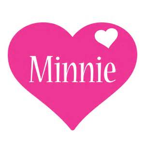 Minnie logo name logo generator birthday love heart friday style