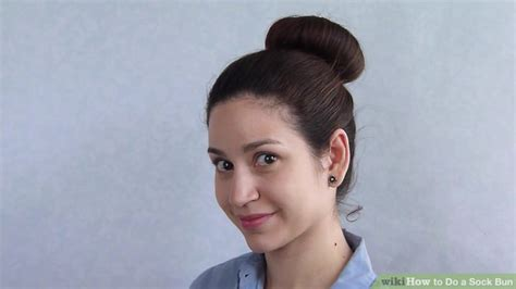 how to do a bun at the base of the neck how to do a sock bun 7 steps with pictures wikihow