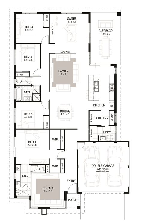 home design layout 4 bedroom house plans home designs celebration homes