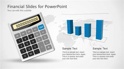 financial powerpoint template with calculator slidemodel