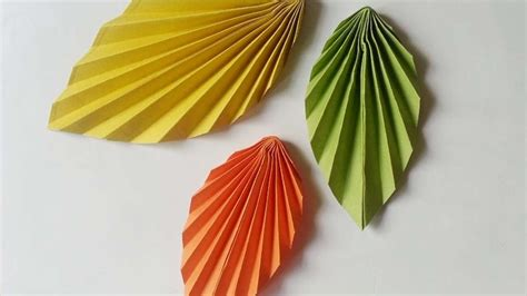 How To Make A Leaf Out Of Paper - how to create easy and paper leaves diy crafts