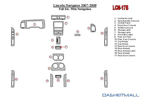 2007 lincoln navigator owners manual with case no reserve for sale carmanuals com lincoln navigator 2007 up premium dash trim kit lcn 17b