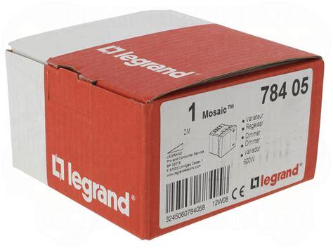 Variateur De Lumiere Legrand 7443 by Variateur De Lumi 232 Re 2 Modules Blanc 600 W Legrand Mosaic