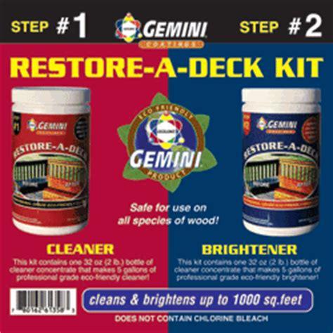 gemini restore  deck kit  sealer store