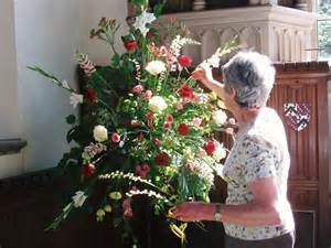 st nicolas cranleigh flower arranging