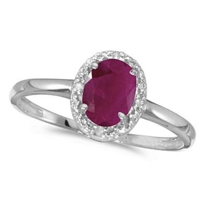 Ruby 2 95ct ruby and cocktail ring in 14k white gold 0 95ct