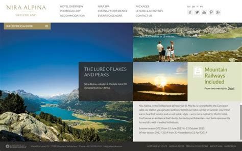spa website inspiration nira alpina silvaplana hotel design hotel webdesign