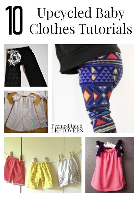ways to upcycle clothes 10 upcycled baby clothes tutorials