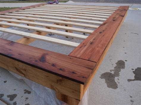 Diy King Size Bed Frame Plans Platform Quick Woodworking How To Build King Size Bed Frame