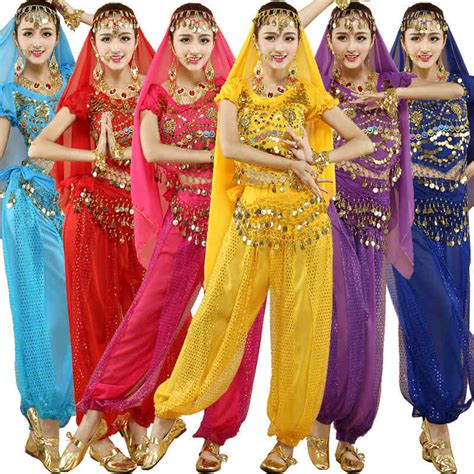 Indian Belly Kostum 3 Pcs 4pcs sets india belly costumes