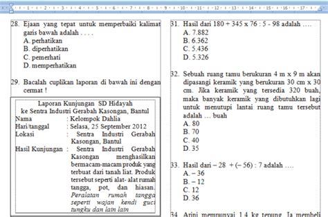 Tipe Soal Ujian Matematika Smp Mts kumpulan latihan soal tes seleksi masuk smp mts