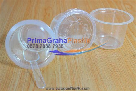 Cup Gelas Plastick Pp 2 In 1 Untuk 2 Jenis Minuman Berbeda gelas plastik 90 ml utk puding agar agar tester home