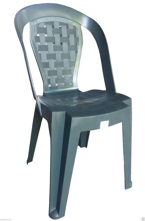 sedie verdi sedia in plastica giardino senza braccioli colore verde
