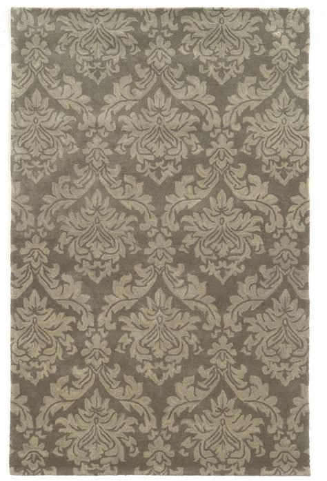 Bradberry Downs Damask Pattern Wool Area Rug In Gray Area Rug Pattern