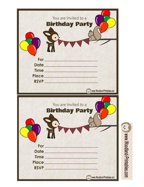 free printable birthday invitations woodland free printable woodland birthday party invitations