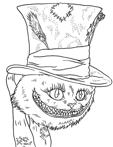 coloring pages of cheshire cat cheshire cat coloring pages to download and print for free