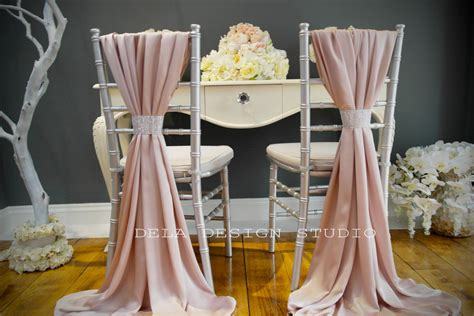 silky chair cover sash blush pink wedding by