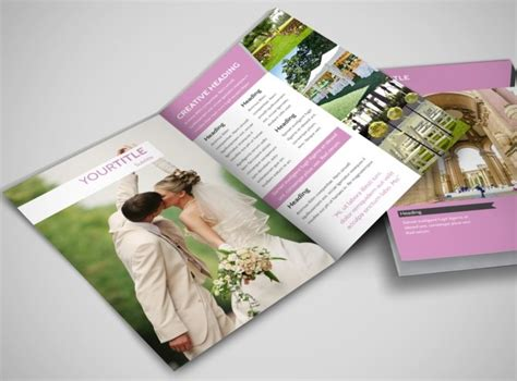 Wedding Venue Brochure Template by Wedding Service Venue Bi Fold Brochure Template