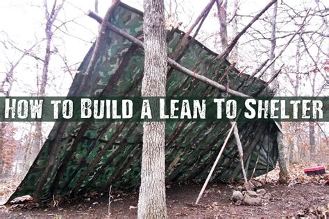 how to a shelter how to build a lean to shelter shtf prepping central