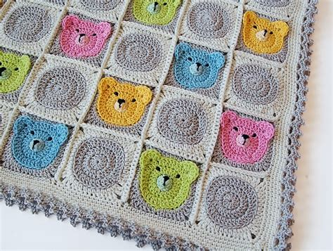 Squares Baby Blanket by Teddy Square Baby Blanket