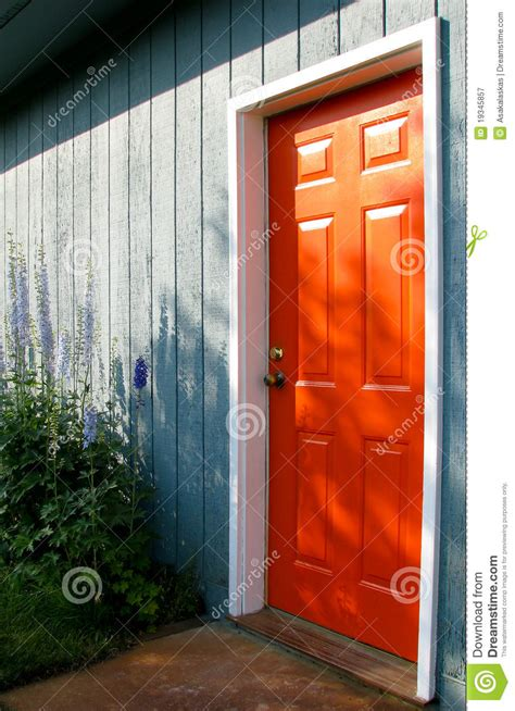 Orange Door Royalty Free Stock Photography   Image: 19345857
