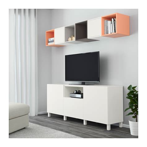 tockarp ikea hack best 197 eket tv storage combination white dark grey light