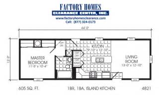 one bedroom mobile home floor plans single wide one bedroom manufactured homes
