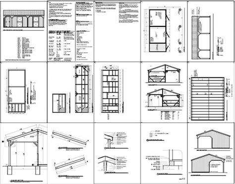 horse lean plans   build diy blueprints