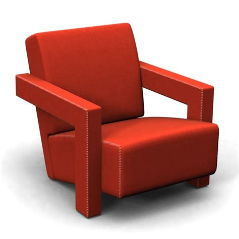 rietveld armchair 3d model utrecht 637 armchair gerrit