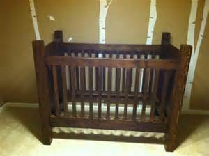 Baby Crib Woodworking Plans by Items Similar To Handmade Rustic Style Solid Wood Crib