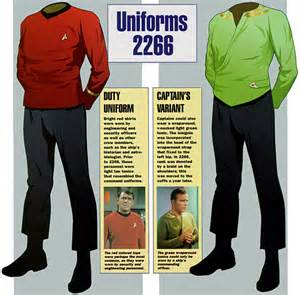 trek shirt color meaning trek tos season uniforms search