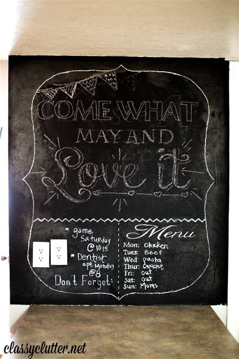 chalkboard kitchen wall ideas kitchen updates for 400 and dining room part 2 clutter