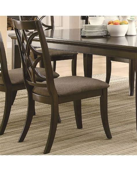 coaster furniture meredith collection dining room buffet coaster dining side chair meredith co 103532 set of 2