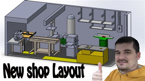 youtube shop layout shop layout in 3d for maximum use of space before moving