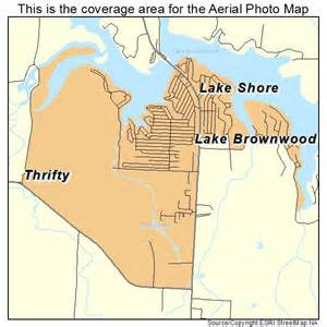 aerial photography map of lake brownwood tx