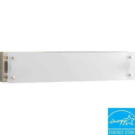 Fluorescent Vanity Light Fixture by Progress Lighting 1 Light Brushed Nickel Fluorescent