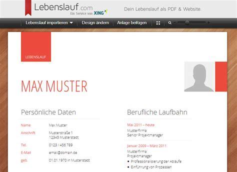 Lebenslauf Deutschunterricht Medienfundgrube 187 Lebenslauf