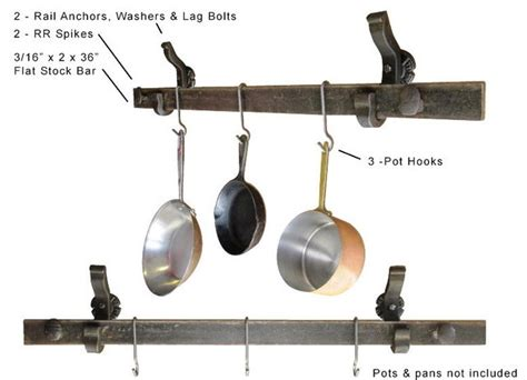 Cooking Pot Hangers Pot Pan Hanger Wall Mounted Eclectic Pot Racks And