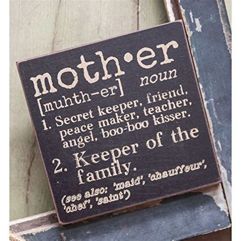 definition with decorative the definition of mother decorative wood sign 6 in x 6
