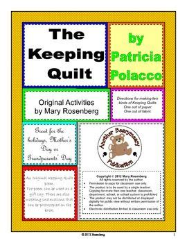 The Keeping Quilt Story by Quilt The Story And Poem On
