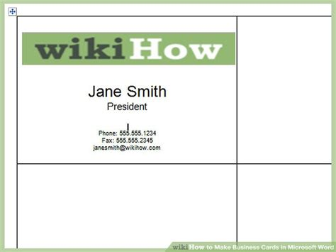 how to make business cards on microsoft word template how to make business cards in microsoft word with pictures