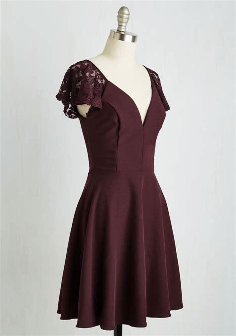 flutter style dress mystic fashion festive flutter dress in bordeaux in purple