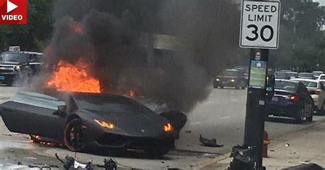 Lamborghini Crash Test Lamborghini Huracan Driver Saved Seconds Before Wrecked