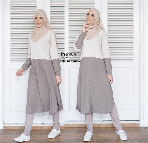 Tunik Muslimah Modern lathisa tunik baju muslim gamis modern