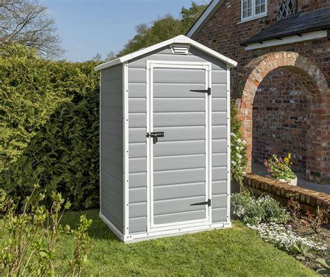 keter manor outdoor plastic garden storage shed grey