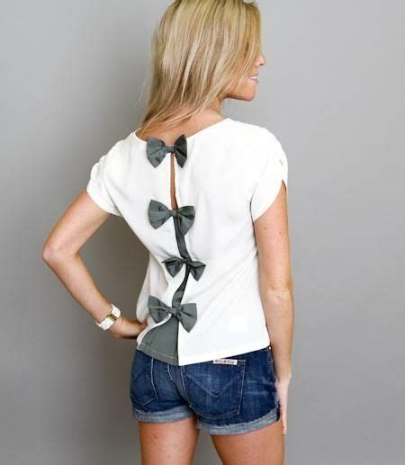 cut t shirt with bows on back salinabear x elephant in the room shirt cut down the middle of the back and tied back with