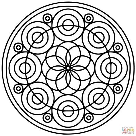 circular patterns coloring pages coloring pages
