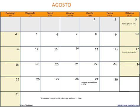 Calendario Agosto 2013 Emef Quot General Euclydes De Oliveira Figueiredo Quot Calend 225